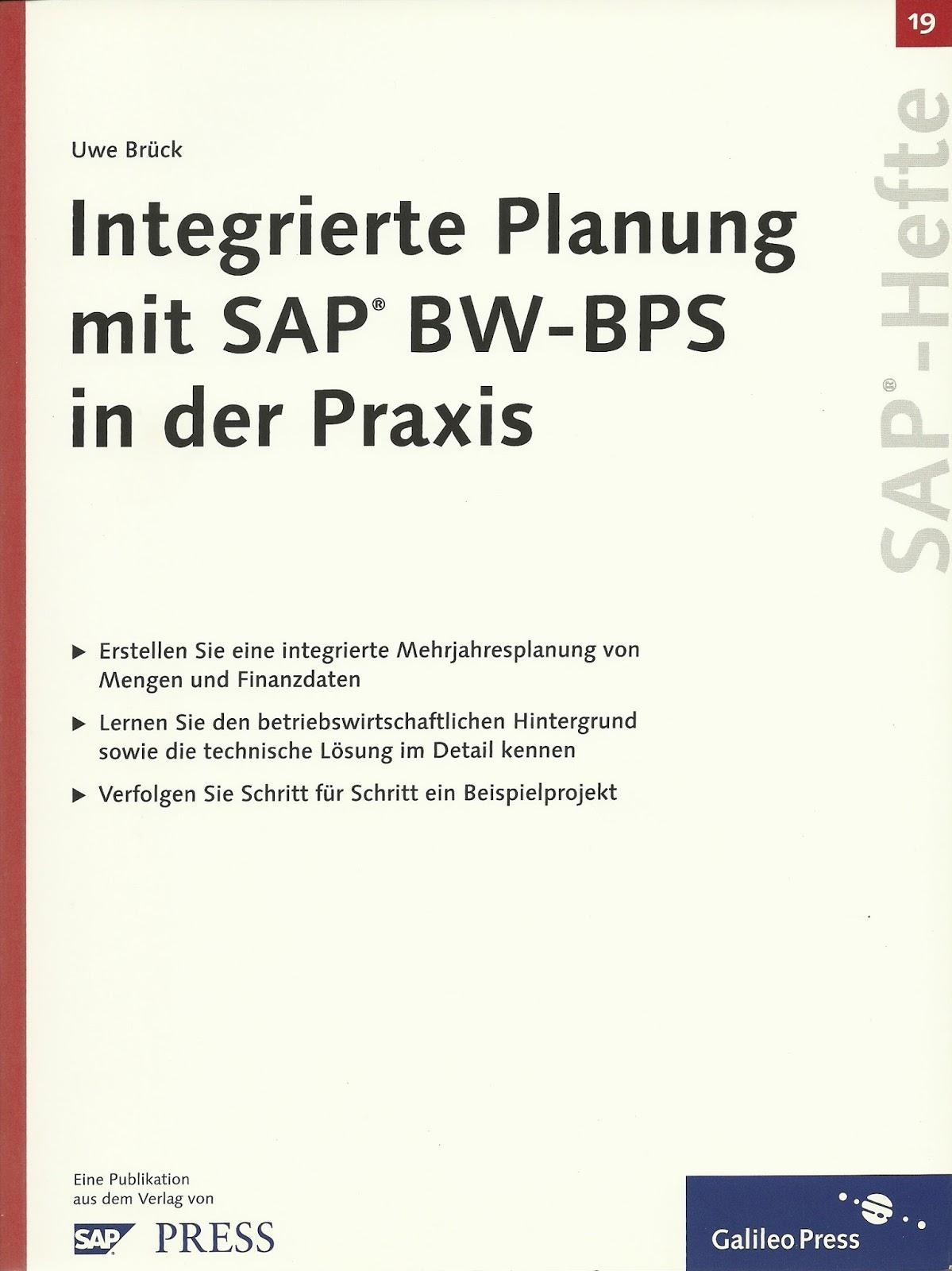 Buch-Cover: Integrierte Planung mit SAP BW-BPS in der Praxis
