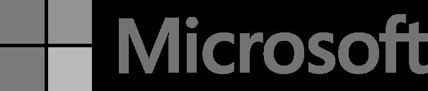 Logo Microsoft in Graustufen
