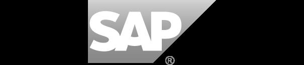 Logo SAP in Graustufen