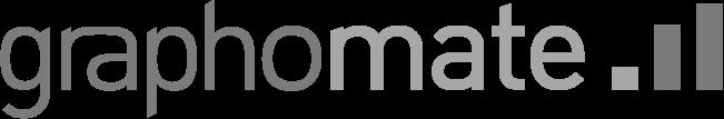 Logo graphomate GmbH in Graustufen